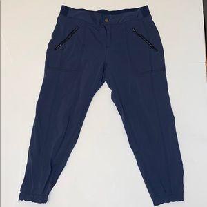 Athleta blue button joggers size 14P
